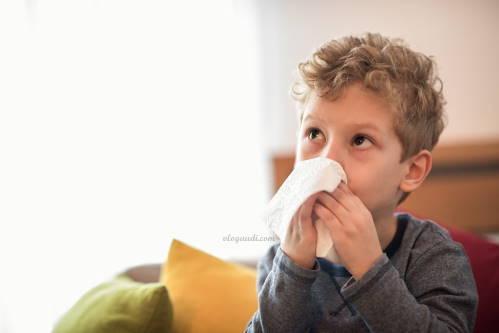 anak sedang flu